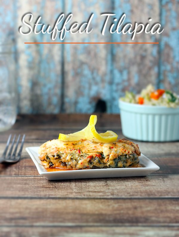 Easy Stuffed Tilapia Recipe #SamsClubSeafood #ad
