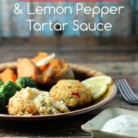 Crab Cakes with Lemon Pepper Tartar Sauce