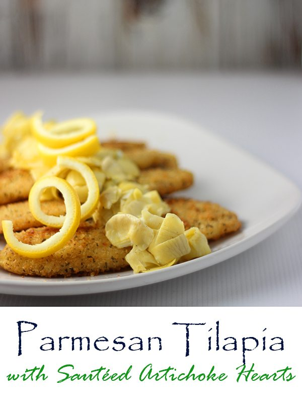Parmesan Tilapia with Artichoke Hearts