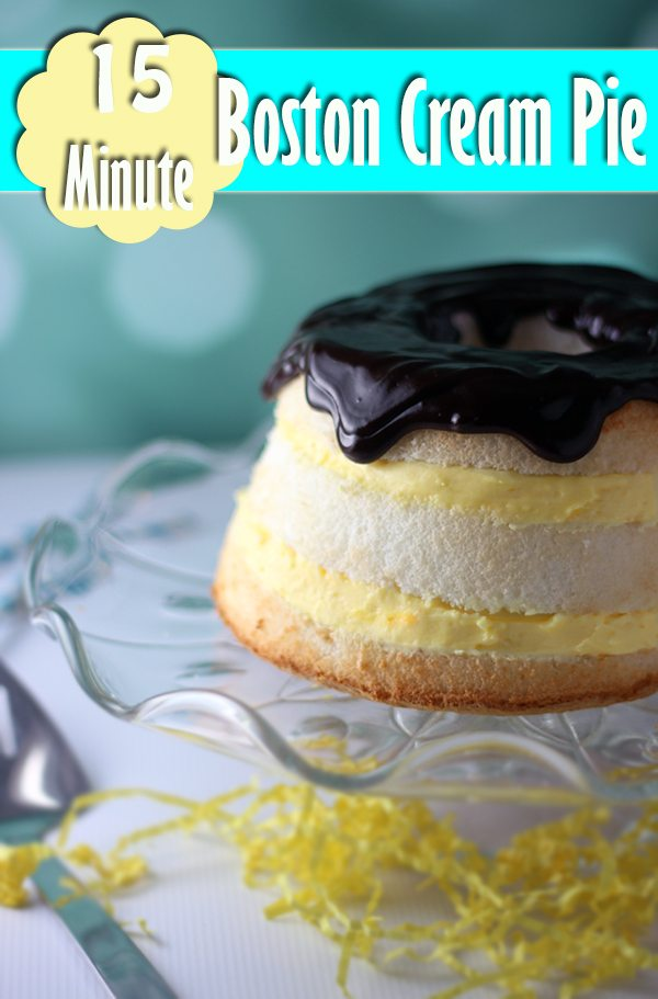 15 Minute Boston Cream Pie #dessert