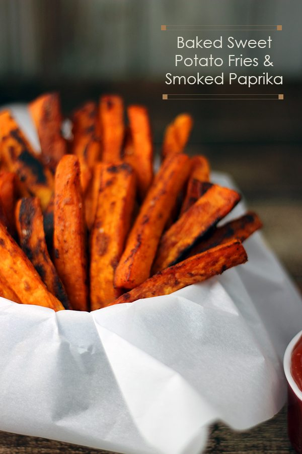 Baked sweet potatoes fries with a hint of smokey Paprika #Recipe