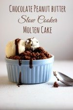 Chocolate Peanut Butter Slow Cooker Molten Cake Recipe