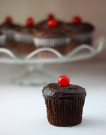 Double Chocolate Cherry Filled Cupcake Recipe