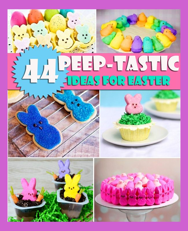 "44 Awesome ""Peep-tastic"" things to make with #Peeps for #Easter"
