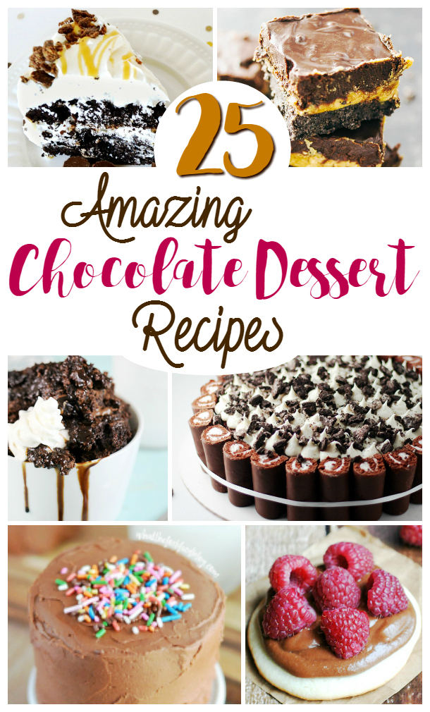 25 mouthwatering chocolate recipes .