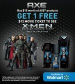 X-Men Fans: Buy $15 of AXE at Walmart & Get Free Movie Tickets