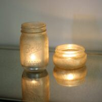 Easy to make glitter mason jar candles