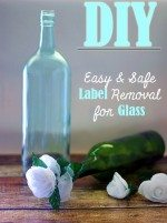 Getting Ready for a Living Room Makever: DIY Remove Sticky Labels from Glass Bottles