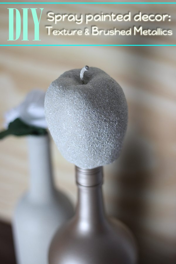 Make your own home decor with texture and brushed metallics in one easy step.