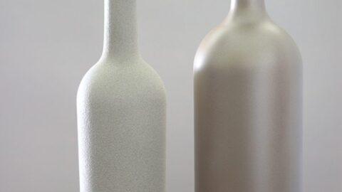 Brilliant Home Decor: DIY Spray Painted Glass Bottles