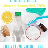 10 Awesome recipes using Lemon Essential Oils for a clean and natural home!