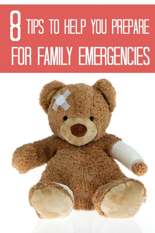 tips to help you prepare for family emergencies.