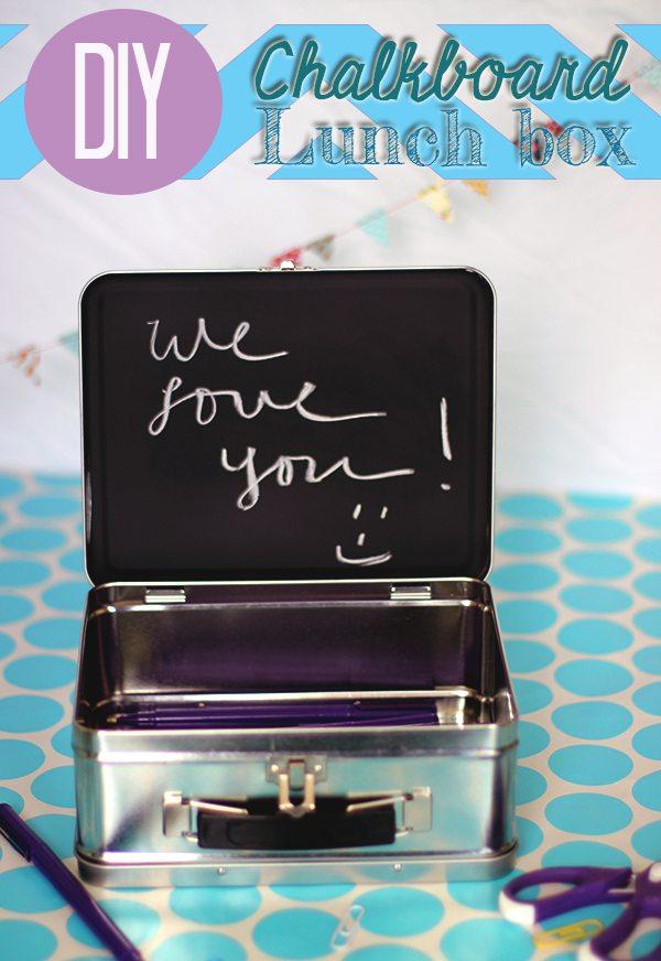 oh so cute,  DIY Chalkboard Lunchbox