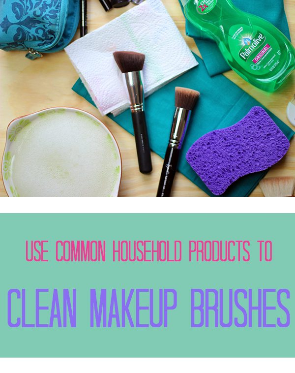 Use these common household products to clean your makeup brushes. awesome.