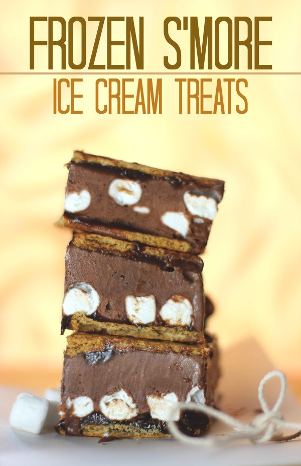 Mmm. Simple to make S'mores ice cream sandwiches. Yes please!