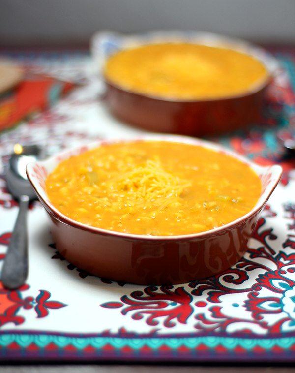 20 Minute Pumpkin & Corn Cheddar Soup #FDKnorrSides