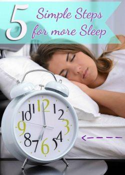 Breathe Right Sleep In: 5 Simple Ways to Get More Sleep