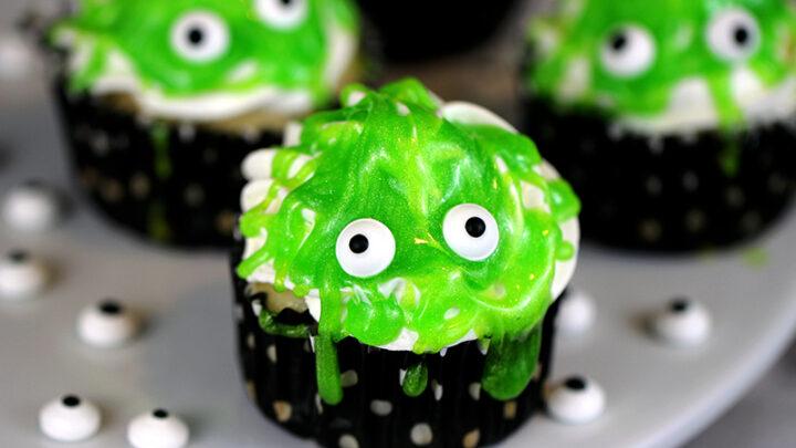 Slimy Monster Cupcakes