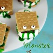 easy and kids will love these! monster smores!
