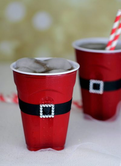 Santas Belt Plastic Cup Craft