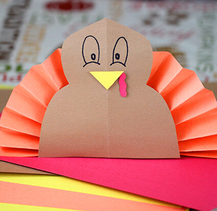 construction paper turkey