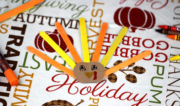 craft stick turkey craft