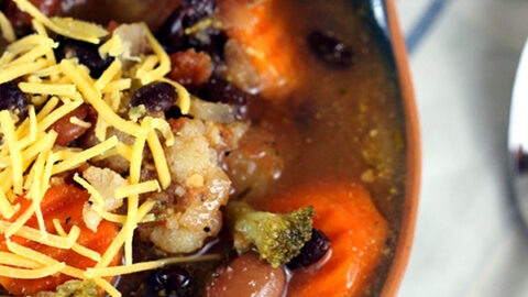 Slow Cooker Vegetable Soup and Tips for Freezing Soup with FoodSaver®
