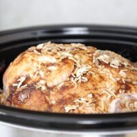 4 Ingredient Slow Cooker Whole Turkey for Thanksgiving