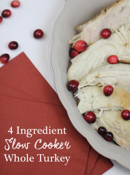 delicious and only 4 ingredients! slow cooker whole turkey