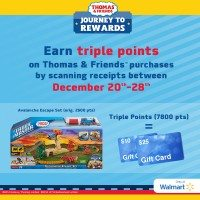 Get Triple Rewards on Thomas & Friends Purchases!