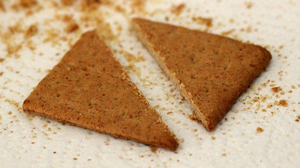 cut graham cracker