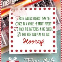 Don't forget the batteries. Printable gift tags
