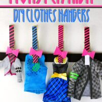 monster high clothes hanger craft