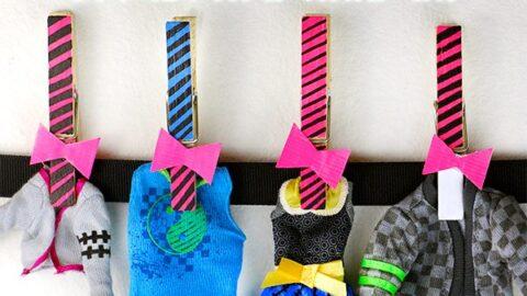 DIY Monster High Clothes Hangers