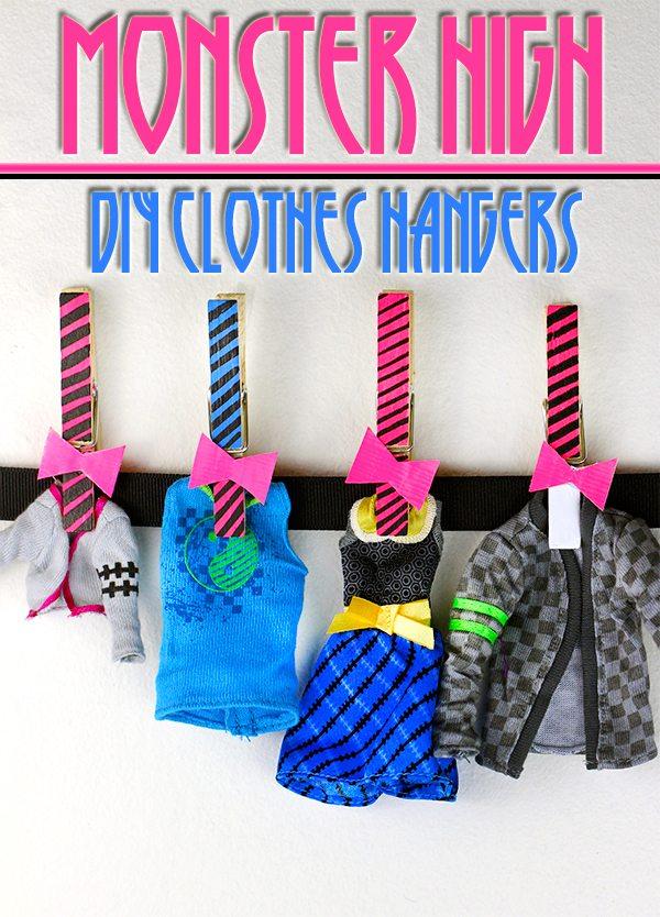 monster high clothes hanger craft