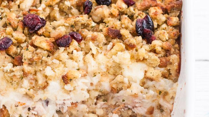 Leftover Creamy Turkey Casserole