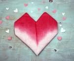 Valentine's Day Heart Shaped Napkin Fold