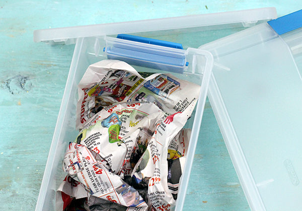 newspaper container