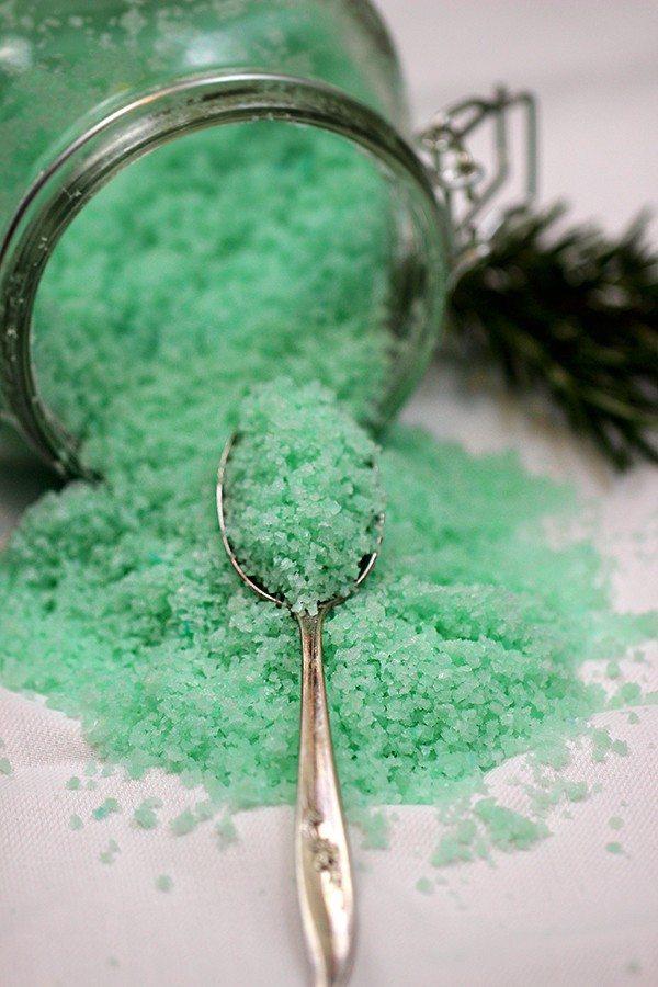 spruce sea salt bath