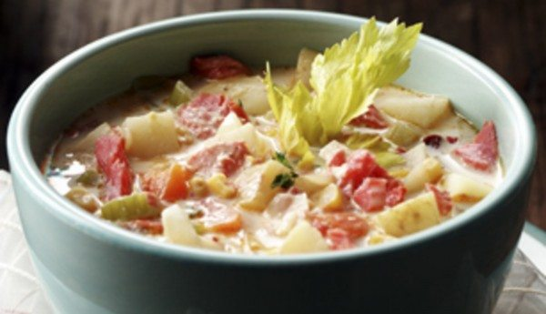 ALASKA SMOKED SALMON AND CHIPOTLE CHOWDER