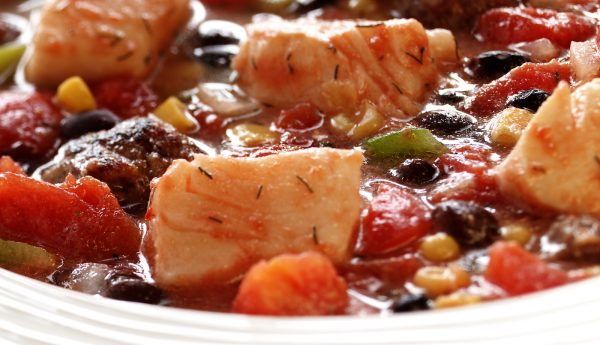 SPICY ALASKA HALIBUT STEW