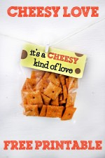 """""""It's a Cheesy Kind of Love"""" Valentine's Day Printables"""