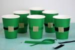 St. Patrick's Day Party: DIY Leprechaun Belt Cups