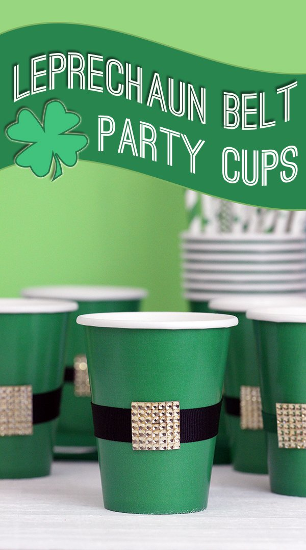 Make these super cute Leprechaun party cups in minutes! #StPatricksDay