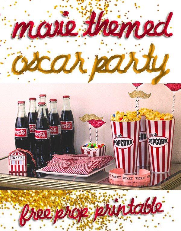 Totally cute and easy Oscar party ideas!
