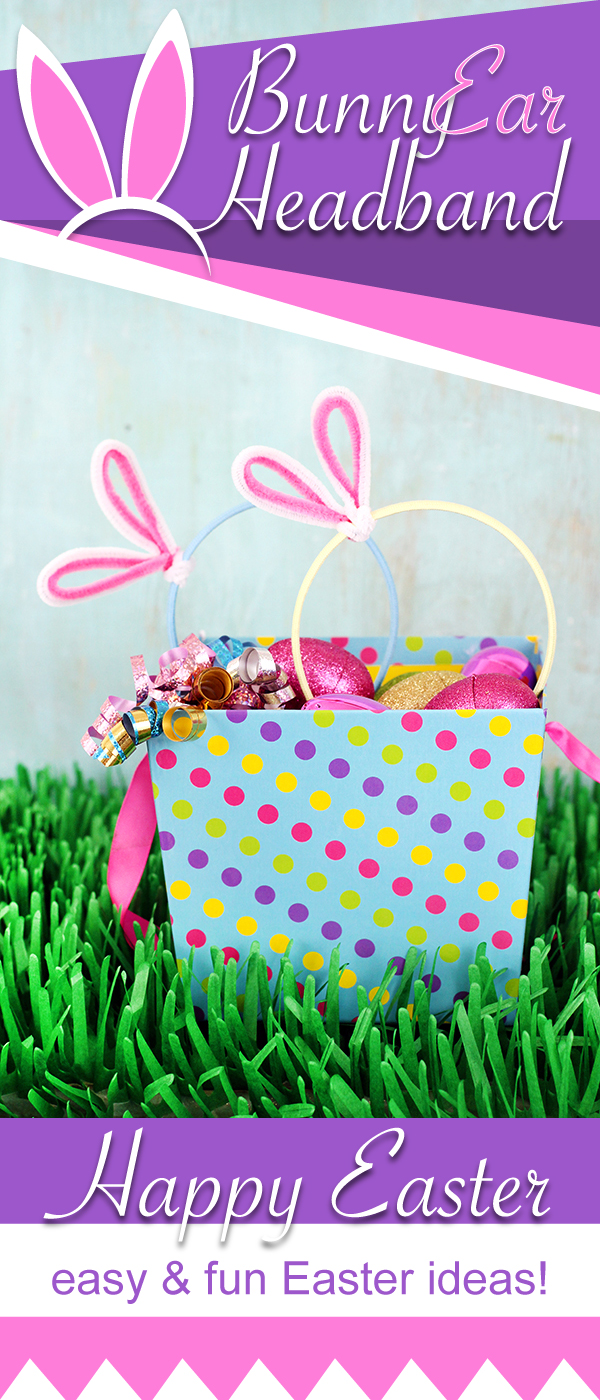 Make your own bunny ear headband in minutes #Easter #Crafts