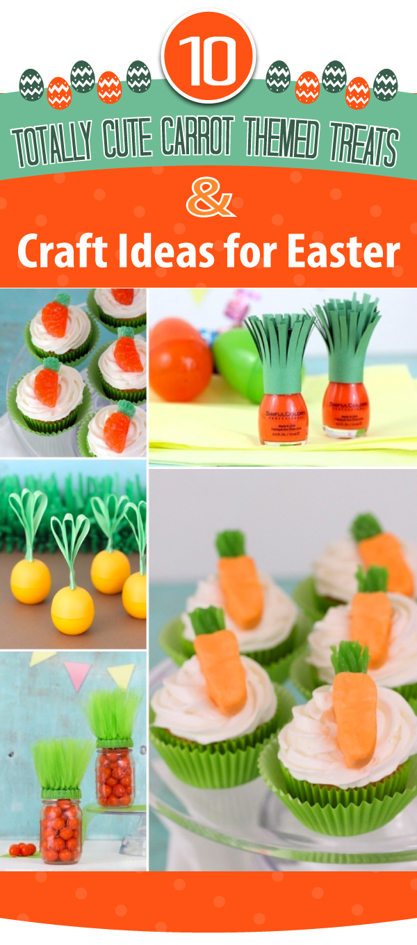 Cute Carrot Themed Easter Treats and Crafts to make for Easter