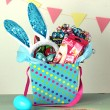 blue easter basket