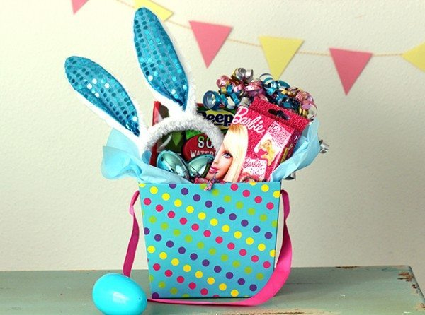 Budget friendly easter baskets ideas lifestyle blog blue easter basket negle Choice Image