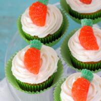 Easy Gumdrop Carrot Cupcakes